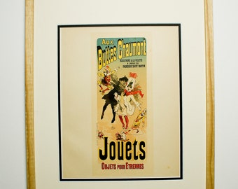 Jules Cheret, Original Maitres de L'Affiche Poster, French 1898, Plate No.141, Ad for BUTTES CHAUMONT Toys, as seen on Friends TV Show.