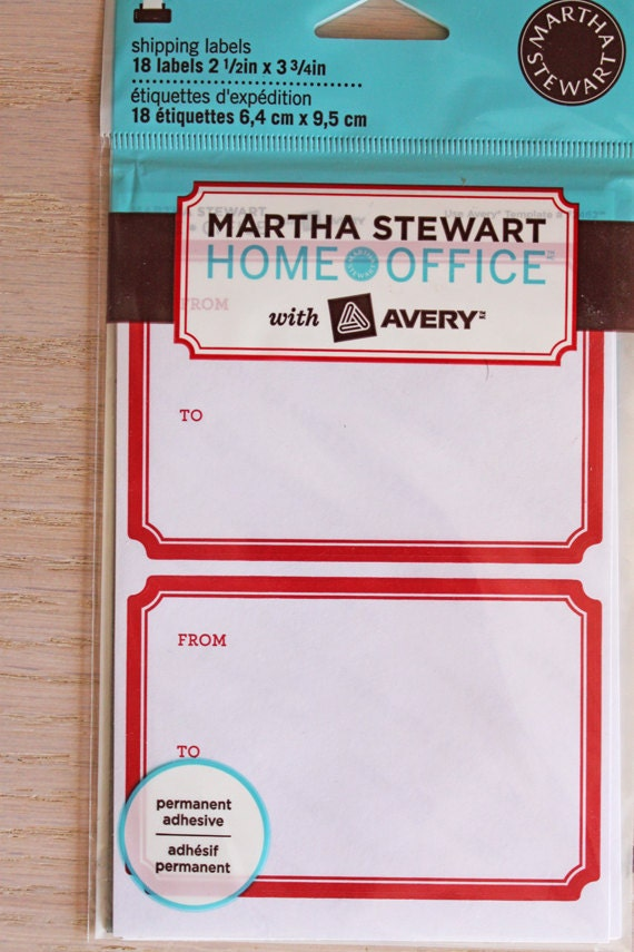 martha stewart gift tag template - martha stewart gift tag or shipping labels new in package