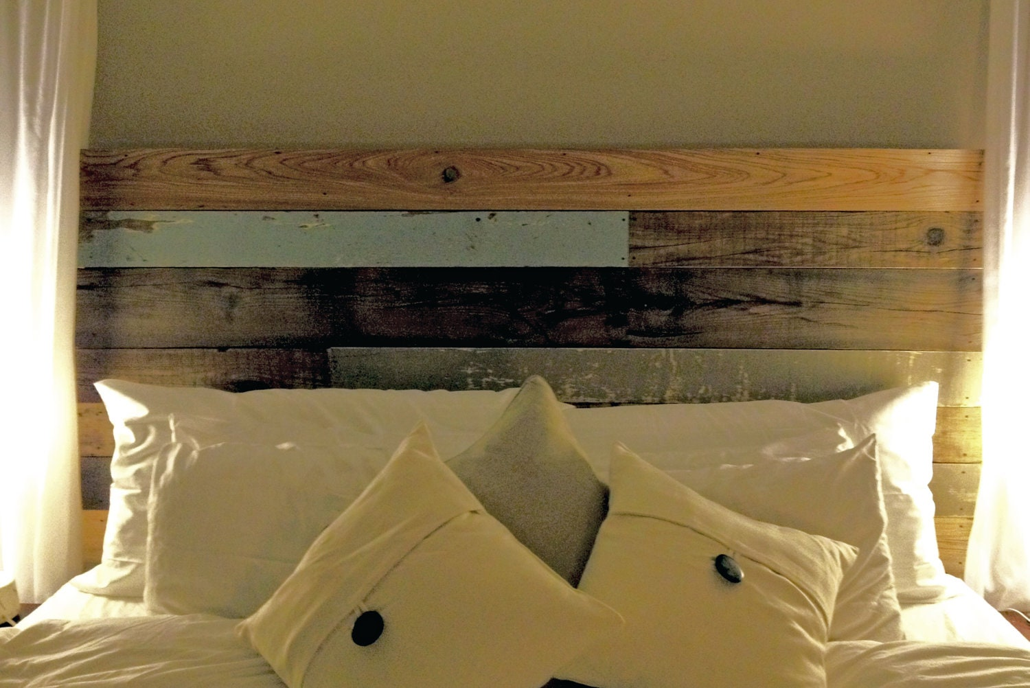Items Similar To Reclaimed Wood Headboard On Etsy