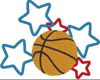 Basketball Machine Embroidery Design, 2 sizes, basketball embroidery design, basketball design, basketball embroidery pattern