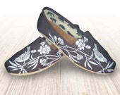 """Custom Painted """"Bird"""" Toms Shoes"""