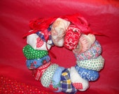 Small Craft Fabric Christmas Wreath