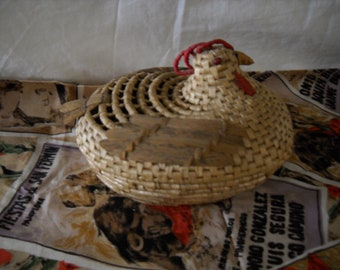 Bamboo Chicken Lid Basket