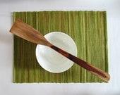 BASIC Green Leaf Handwoven Modern Placemat Set