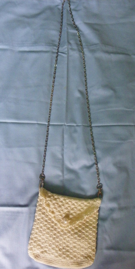 Free Shipping A brand-new Sweet Crochet Bag, Thai Handmade, Craft, Details Stainless steel strap