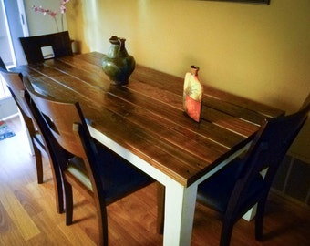 FAZENDA reclaimed distressed wood dining table / farmhouse table / kitchen island