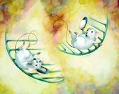"Limited Edition Print from Takota's Dream: ""Around and Around""."