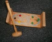 1970's Playskool Wooden Cobblers Bench Toy