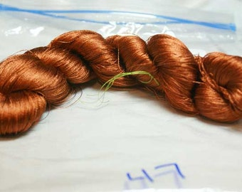 Earth Tones Hand Dyed Japanese Silk Thread-Circa 1920's