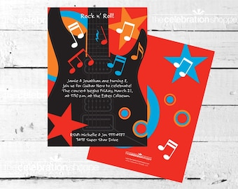ROCK STAR Birthday Party INVITATION from The Celebration Shoppe