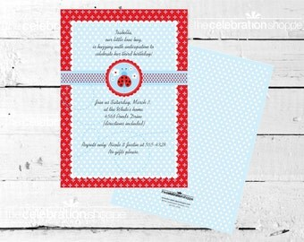 LADYBUG Birthday Party INVITATION from The Celebration Shoppe