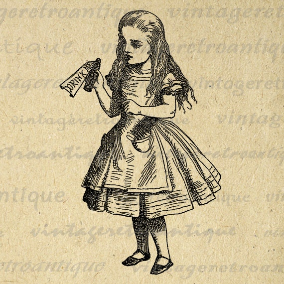 vintage clip art alice in wonderland - photo #13