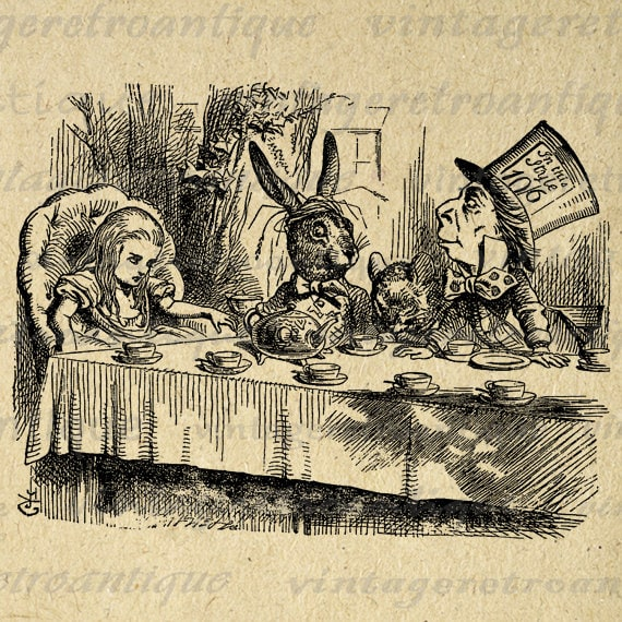vintage clip art alice in wonderland - photo #35