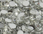1000 5mm Crystal Clear High Quality 14 Facets 20ss Faceted Flatback Resin Rhinestones  Silverback  DIY Deco Bling Craft Supplies