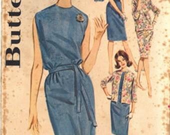 Vintage Butterick Pattern 2660, Size 14 Sheath Dress, Overblouse & Jacket