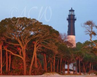 Light house on Hunting  Island, South Carolina (canvas)