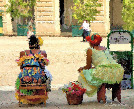 Cuban Flower Ladies in Havana (canvas)