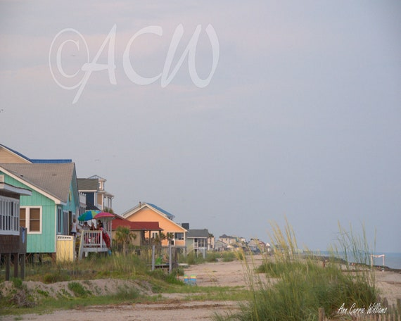 Beach Houses on Edisto Beach South Carolina (PR) (canvas)