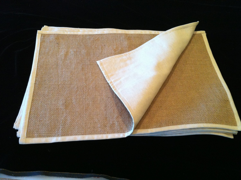 burlap placemats 4