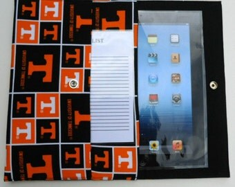 iPad, iPad2, iPad3 Case / Cover / Sleeve padded (READY TO SHIP) - Tennessee Volunteers