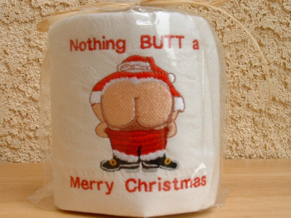 Embroidered Toilet Paper, Christmas, Santa