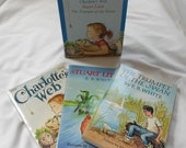 FREE U.S. shipping - Three Classic Books by E.B. White: Charlotte's Web, Stuart Little, The Trumpet of the Swan Set  - Vintage