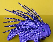 Purple Porcupine Mexican Inspired Sculpture
