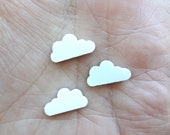 8 Acrylic White Clouds 14 mm Laser Cut