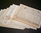 100 Vintage Dictionary Paper Pieces Vintage Book Paper Scrapbooking Altered Art Collage Journaling
