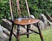 Quaker chair in elm and beech