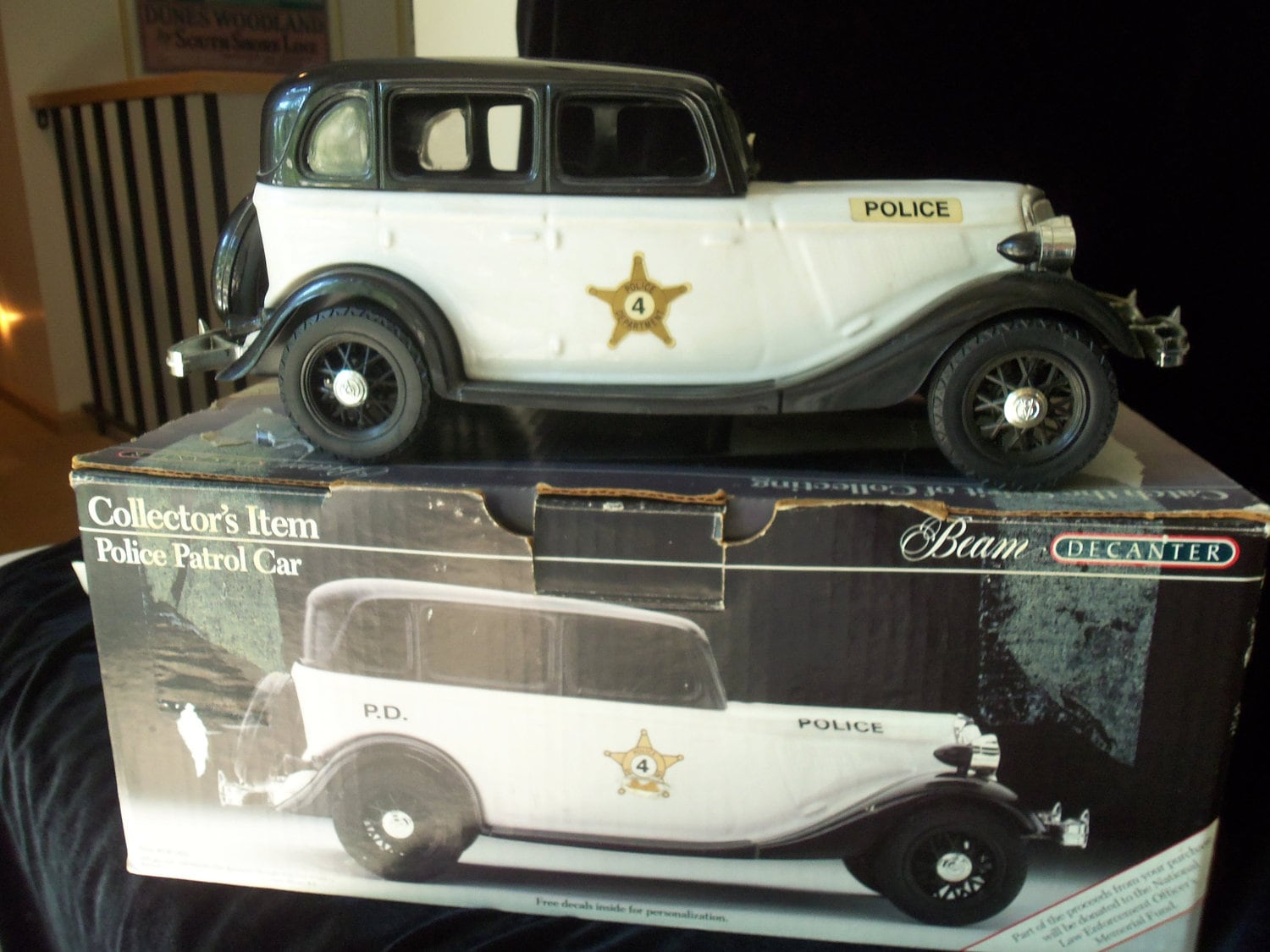Jim Beam Decanter Police Patrol Car 1934 Ford Box Included