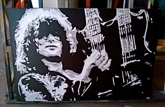 Jimmy Page Dual Neck Guitar Stencil