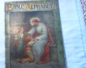 """T Nelson and Sons """"Bible Alphabet"""" Book-One Shilling"""