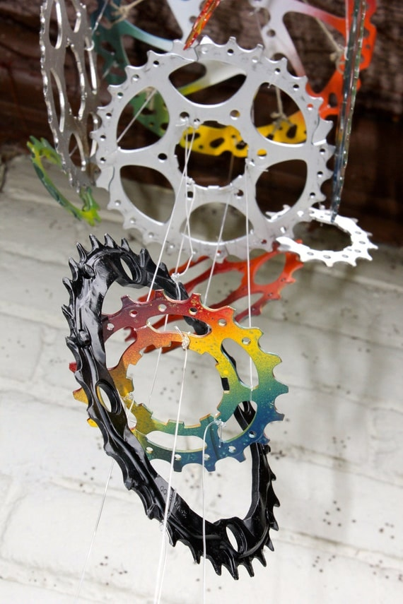 Bicycle Wind Chime - 4 tier, 16 piece, mixed colors