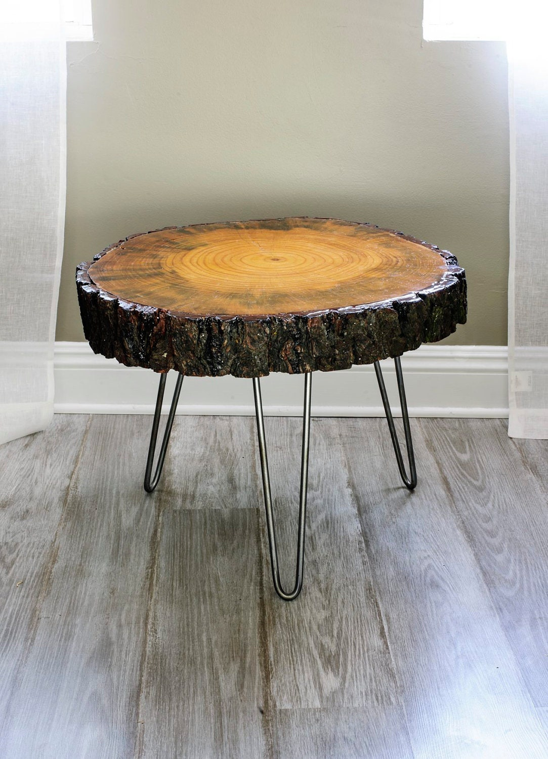 24 39 39 wide tree slice coffee table found wood wood