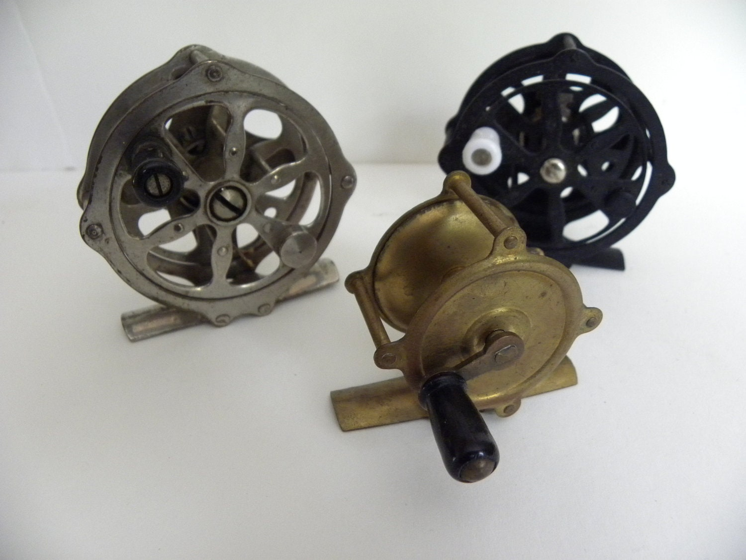 Vintage fly fishing reels by vintageindustriesinc on etsy for Vintage fishing reels for sale