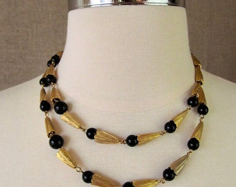SALE - Vintage Necklace / Gold Choker Necklace