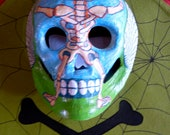 Two Hand Painted Paper Mache Day of Dead Mask for Kim