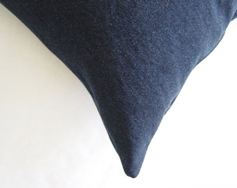 "22"" by 22"" Dark Blue Denim Pillow Cover"