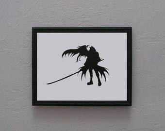 Sephiroth Kingdom Hearts  Hand cut paper art black silhouette paper cutting