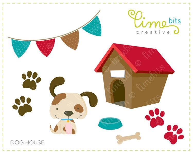 dog in doghouse clipart - photo #29