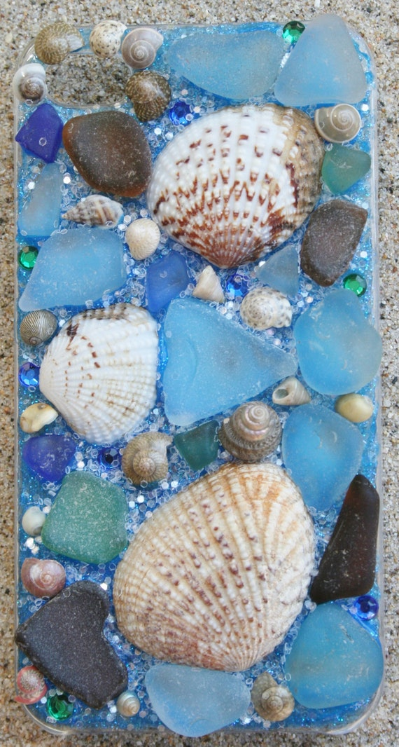 Beach Glass and Sea Shell Iphone 4 case