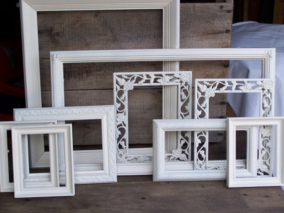 gallery 9  frames collection picture frames wall grouping home decor romantic   farmhouse shabby cottage modern