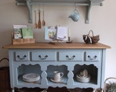 Pine Open Dresser Sideboard Cabinet Linen Cupboard Console Table Laura Ashley Painted