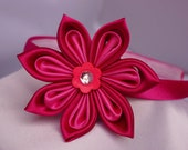 Pretty Pink Kanzashi Flower Headband for Baby Girls/Toddlers and Adult Headband.