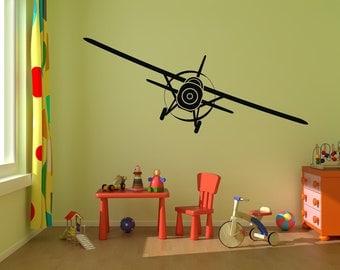 "Airplane Wall Decal Vinyl Graphics 50x15"" Bedroom Decor"