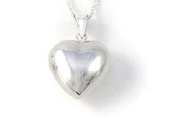 Childrens Mini Silver Heart Charm Necklace