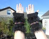 Hand Crochet Fingerless Wrist Warmer Cuff Gloves