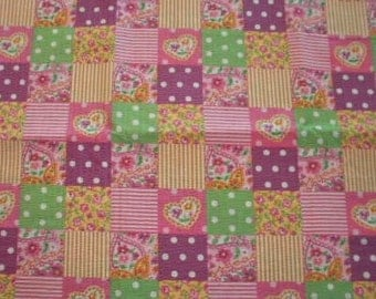 Pink, pastel textured fabric - 1 Yard and 33 Inches