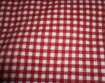 Gingham Look Fabric - 1 Yard and 12 Inches